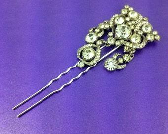 Vintage Bridal Hair Comb, Rhinestone Hair Comb, Vintage Wedding, Bridal, Bridal Up Do, Vintage Hair Accessories