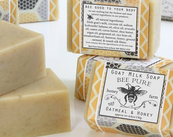 Goat Milk Soap with Oatmeal & Honey