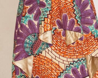 FREE SHIPPING* Sleveless Hi-Lo Ankara dress, African Print Dress