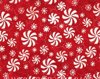 Hoffman - Peppermint Swirls - N2887-75-Peppermint - Swirls - Red - Candy - Winter - Holiday - Christmas - One More Yard
