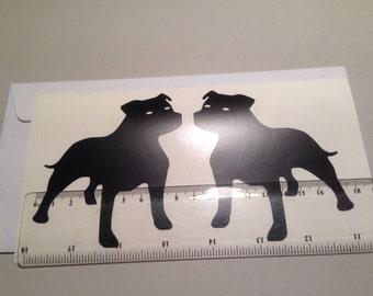 Staffordshire Bull Terrier - vinyl decal sticker