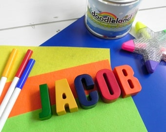 Personalised Name Crayons | 5 letter name | Unique birthday gift | Wedding favours for kids | Letter Crayons | Alphabet | Personalised Gifts