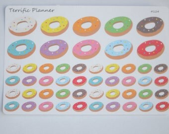 50 Multi Color Donut Stickers Multi Colors For Planners Stickers #124