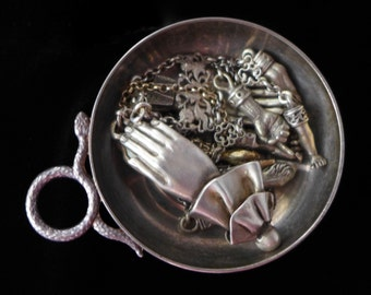 Antique Serpent Trinket Vessel Bowl