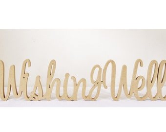 Wishing Well Wooden Wedding Sign