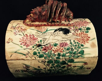 Very Old Japanese Lobster Ceramic Box