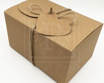 Set of 10 -  Wedding Favor Gift Boxes, Party Gift Boxes, Holiday Gift Boxes, Cookie Boxes, Kraft Boxes With Gift Tags
