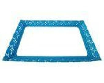 Aqua Blue Mirrored Vanity Tray
