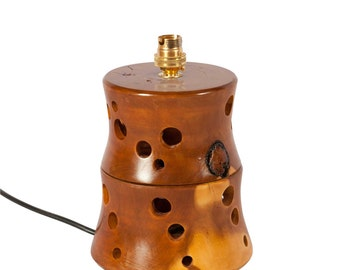 Yew Wooden lamp