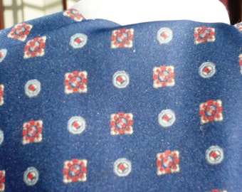Tootal 1960's Blue Patterned Cravat