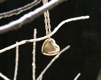 Sterling silver heart on chain