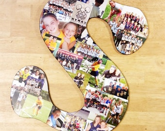 16 Inch Custom Photo Collage, Photo Collage Letter, Photo Collage on Wood, Photo Collage Gift, Personal Collage, Custom Photo Letters