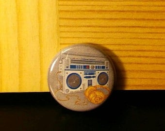 SW Boom Box and Headphones pin, R2 and 3c system button, Dat Jam clothing