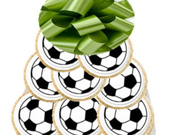 12pack Soccer  Decorated Sugar Cookies