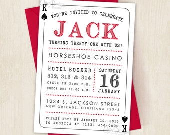 Playing card invite | Etsy