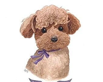 Custom Dog Portrait. Custom Pet Portrait. Custom Pet Painting. Pet Painting. Dog Portrait. Pet Portrait Custom. Pet Watercolor. 8x10in