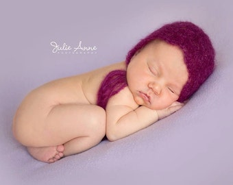 Made to Order - Newborn Mohair Bonnet - Lace Bonnet - Pick your Colour - Baby Girl Bonnet - Mohair Lace Bonnet - Newborn Props