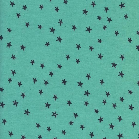Changing Pad Cover >> Print Shop Starry in Seaglass >> Made-to-Order >> aqua changing pad, turquoise star changing pad, modern nursery