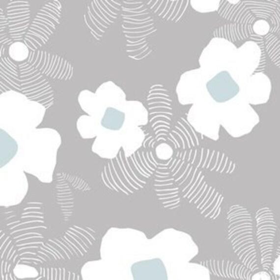 Boppy Cover >> Lagom Asphodel in Blue >> Boppy Newborn Lounger Nursing Pillow MADE-to-ORDER grey blue boppy, dusty blue boppy, floral boppy
