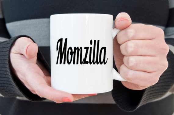 Momzilla mug, Momzilla, gift for mom, awesome mom, mom coffee mug, godzilla, novelty coffee mug, cute coffee mug, statement mug, coffee cup