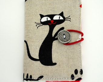 Business Card Wallet, mini wallet, coffee card wallet - Kitty