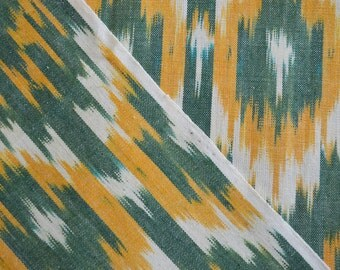 Ikat Fabric, Hand Woven, Home Spun Fabric, Indian Fabric, Ikat Fabric by the Yard, Upholstery Fabric by the yard
