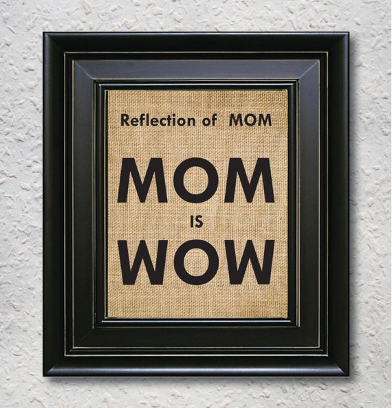 """Items similar to Mothers day print - Reflection of """"MOM is ..."""