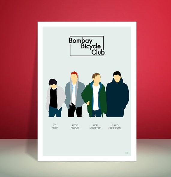 Bombay Bicycle Club // Minimalist Group Poster // Unique A4 / A3 Art Print