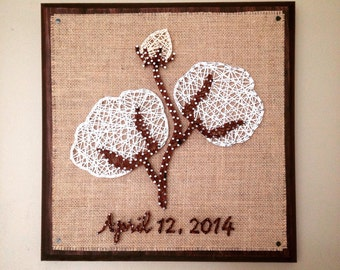 Cotton blossom string art