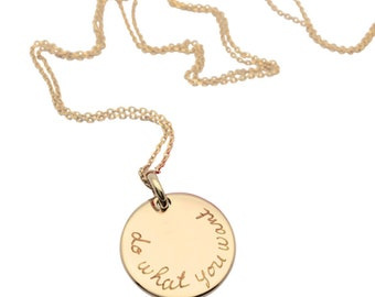 Woman custom medal necklace