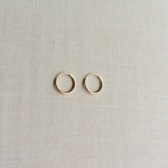 10mm solid 14k gold hoop earrings 14k hoop by sforsparkleshop