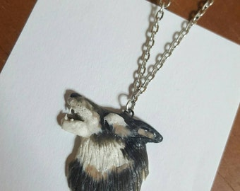 Howling Timber Wolf Necklace