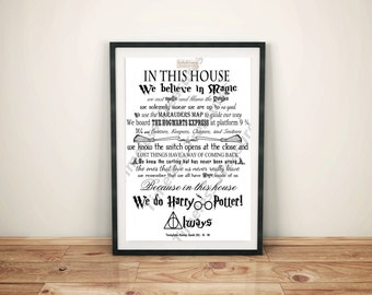 Geek (N) - In This House... We Do Harry Potter (Black on White)