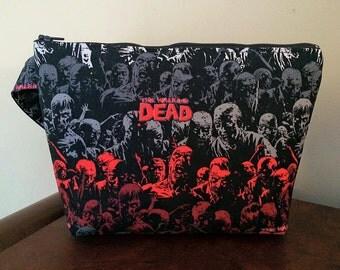 The Walking Dead/Zombie Print Large Wristlet