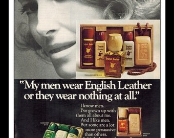 "Vintage Print Ad December 1969 : English Leather After Shave and Cologne Sexy Girl Wall Art Decor 8.5"" x 11"" Advertisement"