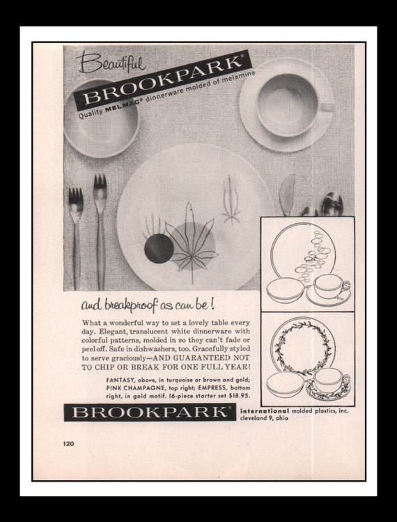 rare Brookpark Melmac Ad from Etsy