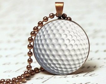 Golf ball sports pendant necklace
