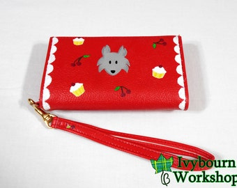 """SALE - Hand-Painted """"Clap Hip Cherry""""-Inspired Wallet"""