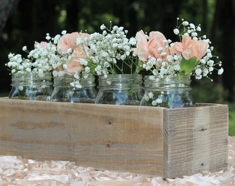 Reclaimed Wood Box Centerpiece