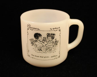 Hallmark Charmers Vintage 1970's Federal Milk Glass Coffee Mug/Tea Cup