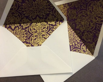 Ten A6 lined envelopes with card