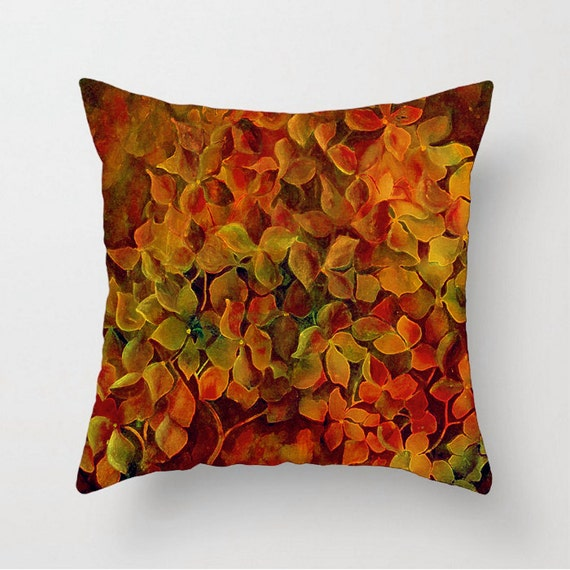 Couch Pillow Cushion Cover Gold Green Red Gold Orange Burnt