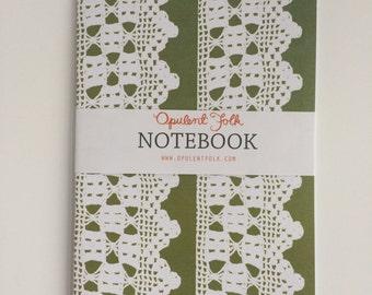 Notebook in Alice Crochet (Olive)