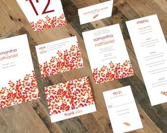 Printable Wedding Invitation Suite - Fern