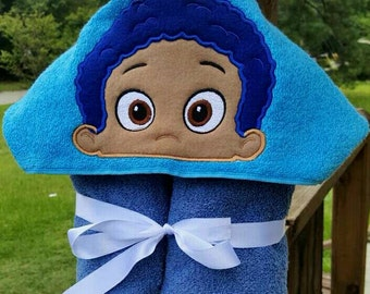 Guppy Gobi Hooded Towel with FREE Embroidered Name