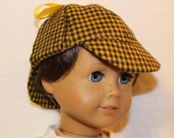 """Deerstalker Hat for 18"""" Doll"""