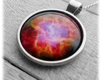 Crab Nebula Pendant & Necklace