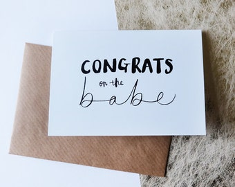 congrats on the babe // greeting card