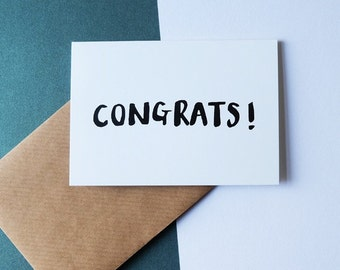 CONGRATS! // greeting card