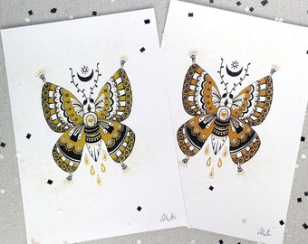 Harmony Butterfly A4 print - intricate butterfly print, butterfly artwork, butterfly gifts, butterfly picture